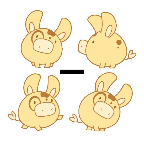 Clipart cow kawaii. Chubby by daieny deviantart