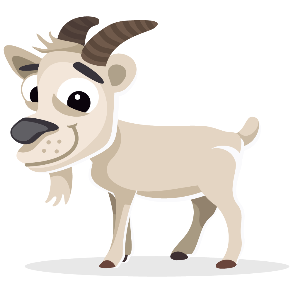 Cool clipart goat. Cute pencil and in