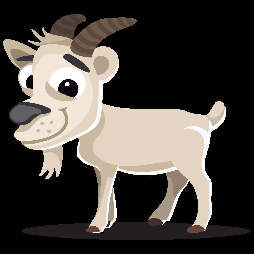 Clipart cow kawaii. Goat cute pencil and