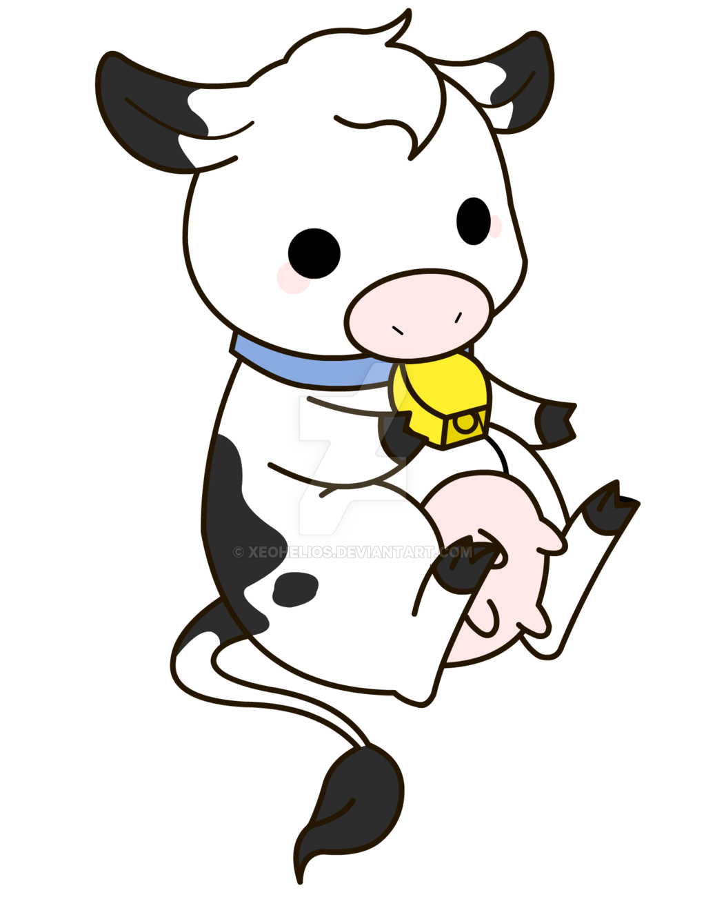 Cmsn chibi farm cow. Farmers clipart cattle farming