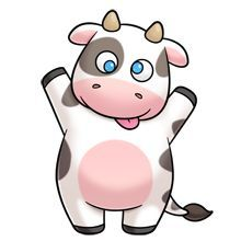 Vaquinha animals cartoon cute. Clipart cow kawaii