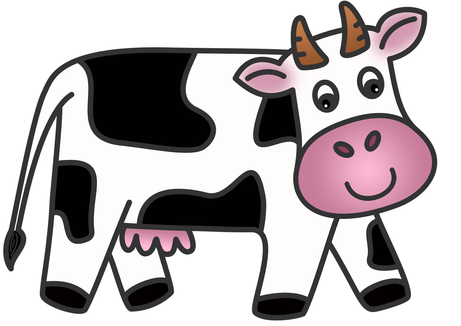 collection of for. Cow clipart colored