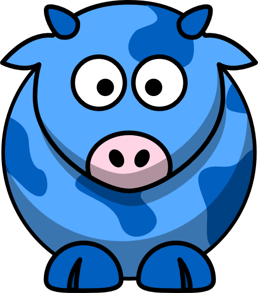 Blue cow at clker. Ox clipart clip art
