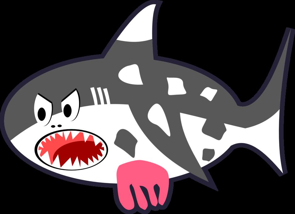 Clipart shark cartoon. Public domain clip art