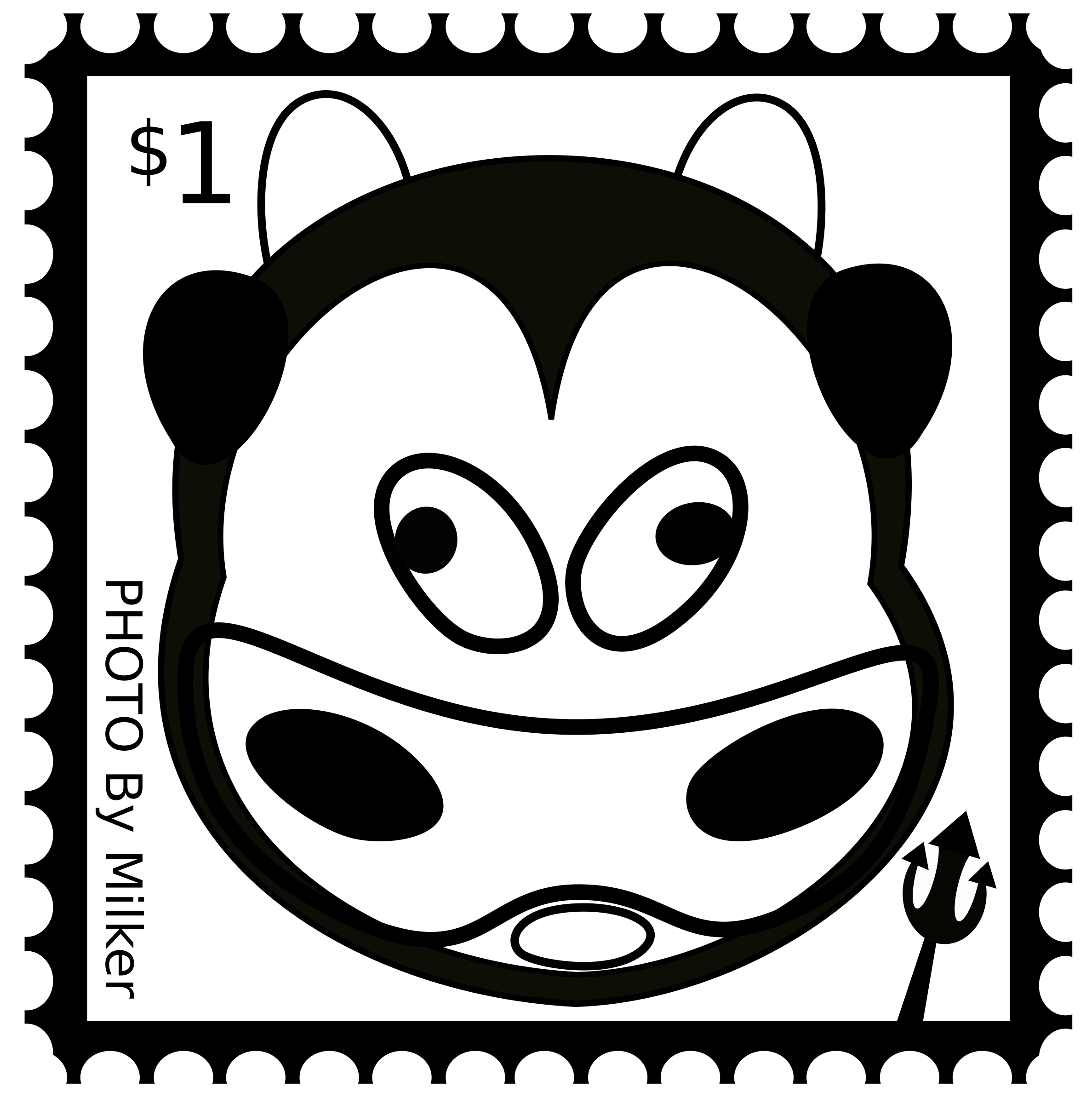 Clipart cow mouth. Stamp big image png