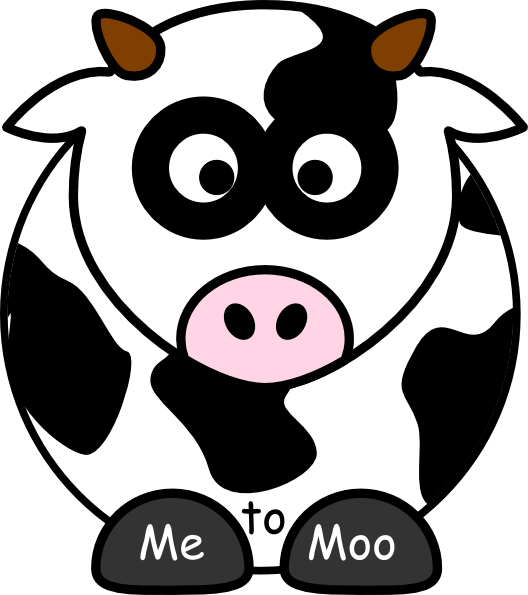 Cows clipart nose. Me to moo clip