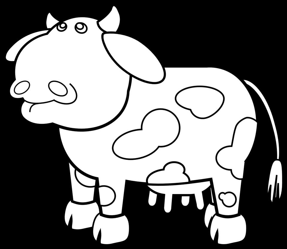 Public domain clip art. Clipart cow outline
