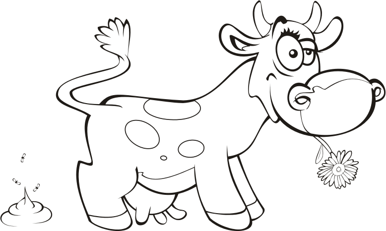 Medium image png . Clipart cow outline