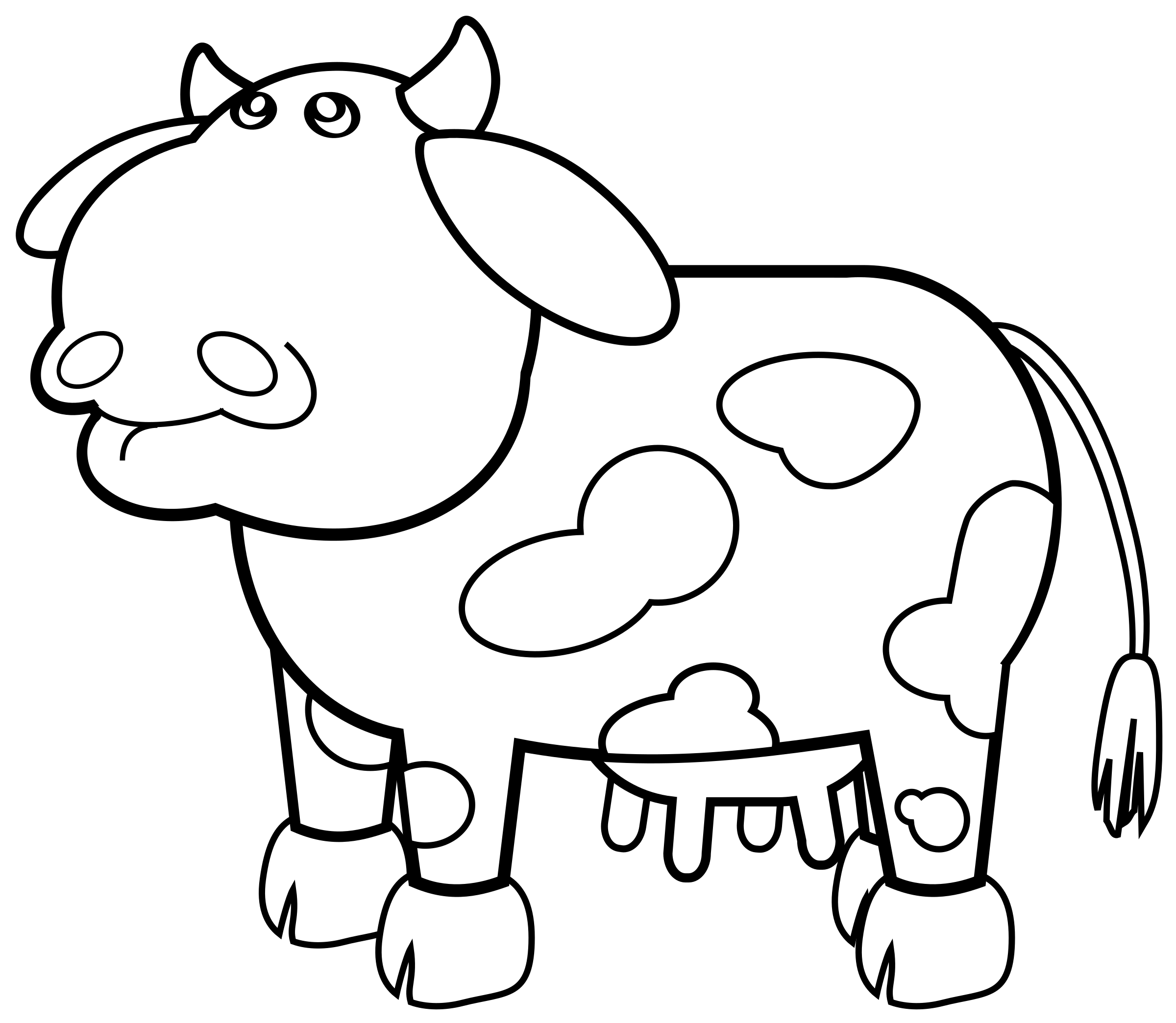 Clipart hippo hippo head. Cow outline big image