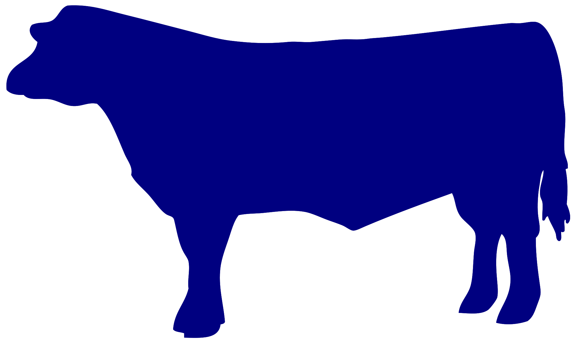 Beef cow silhouette at. Head clipart hereford bull