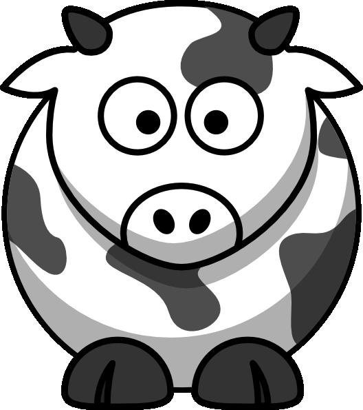Cartoon cow outline clip. Clipart penquin traceable