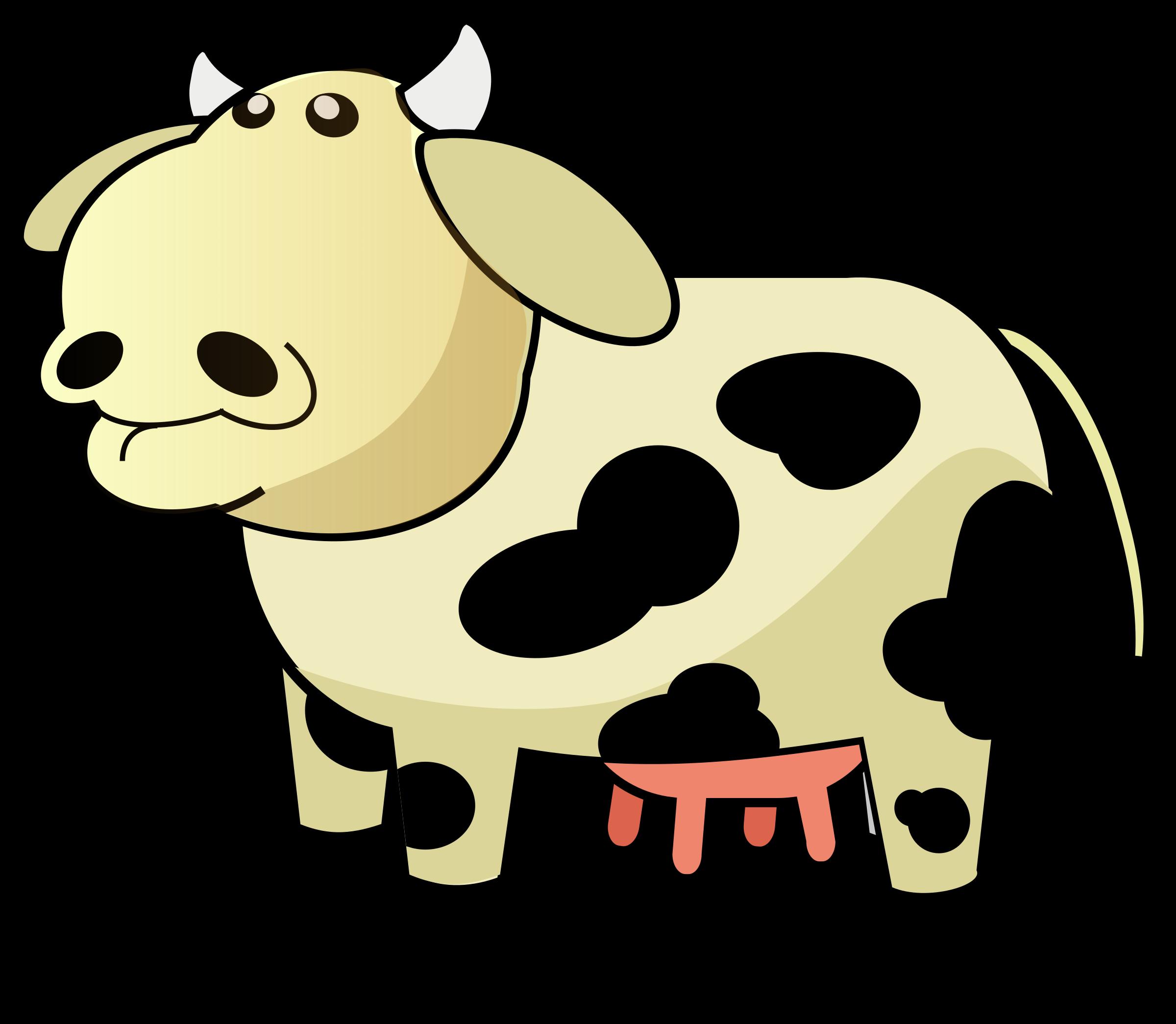 Cows clipart home. Colour cow big image