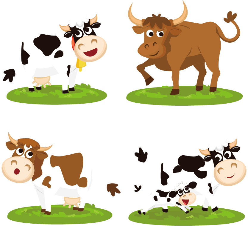 Cow clipart colored. Beef cattle cartoon clip
