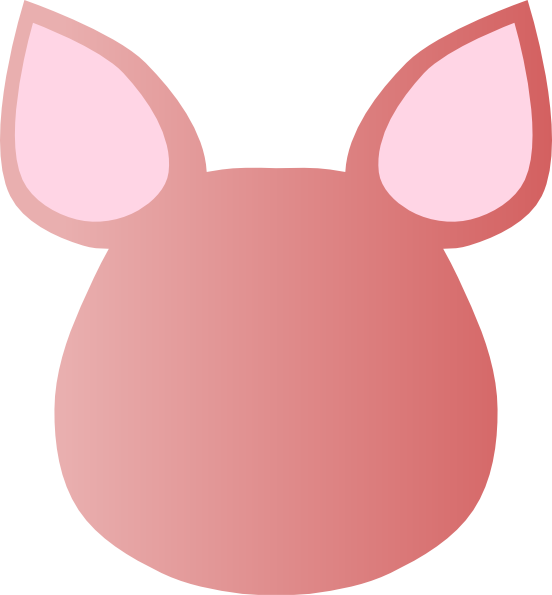 Totetude blank pig face. Pigs clipart man