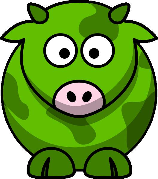 Green cow clip art. Cows clipart pig