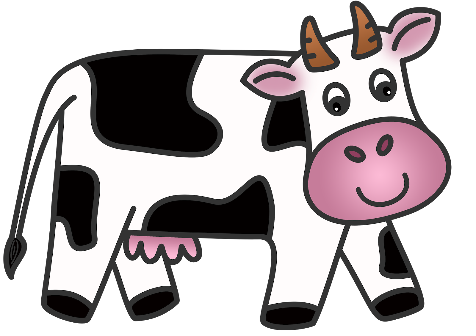 Free images . Clipart cow printable