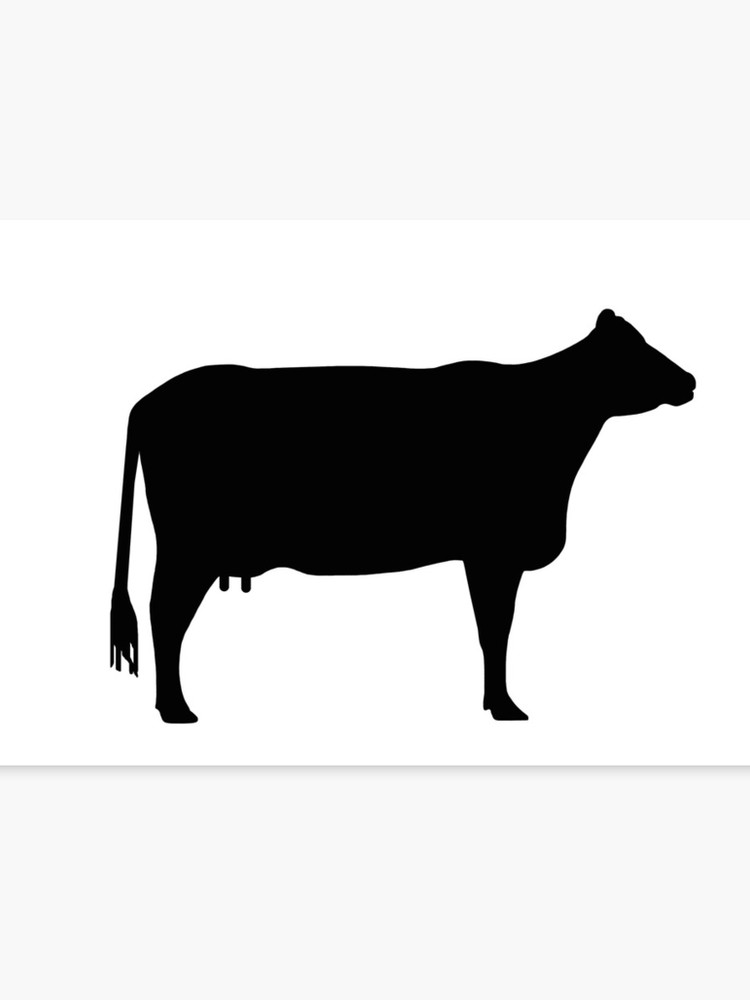 Cow clipart sign. Silhouette as or canvas