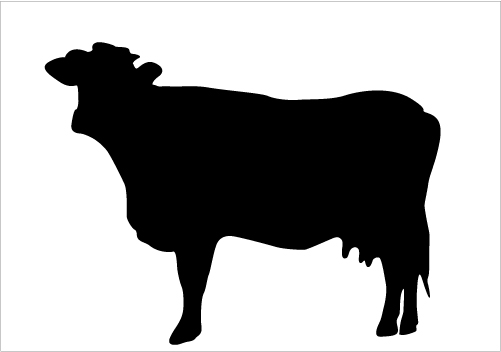 Clipart cow silhouette. Free download clip art