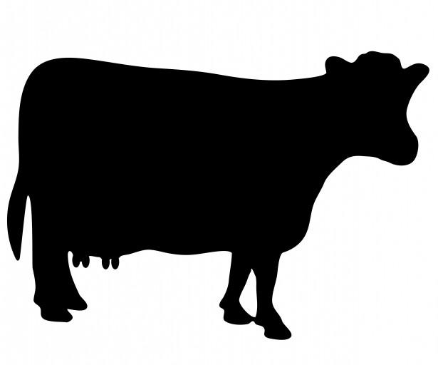 Free stock photo public. Clipart cow silhouette