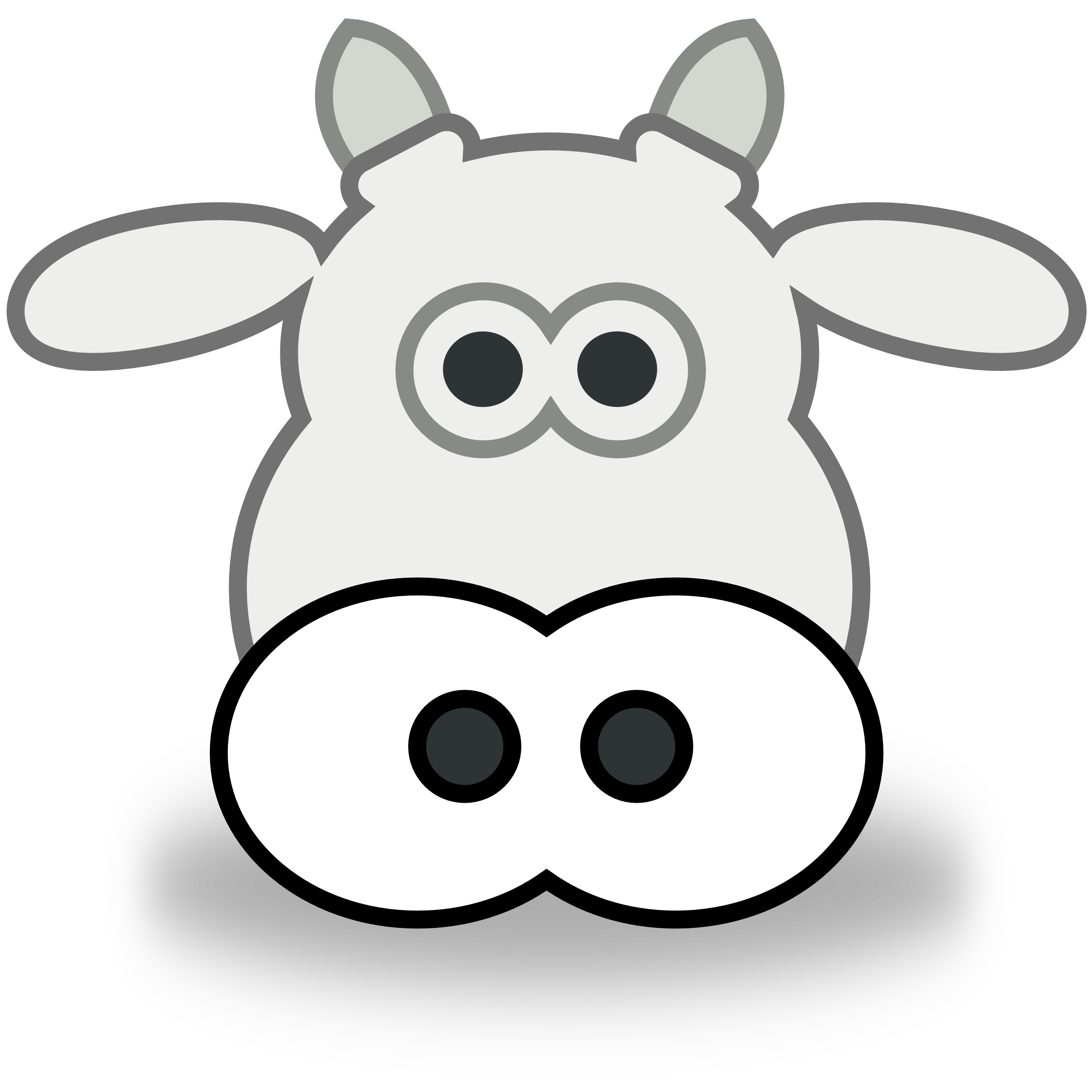 Face panda free images. Clipart cow simple
