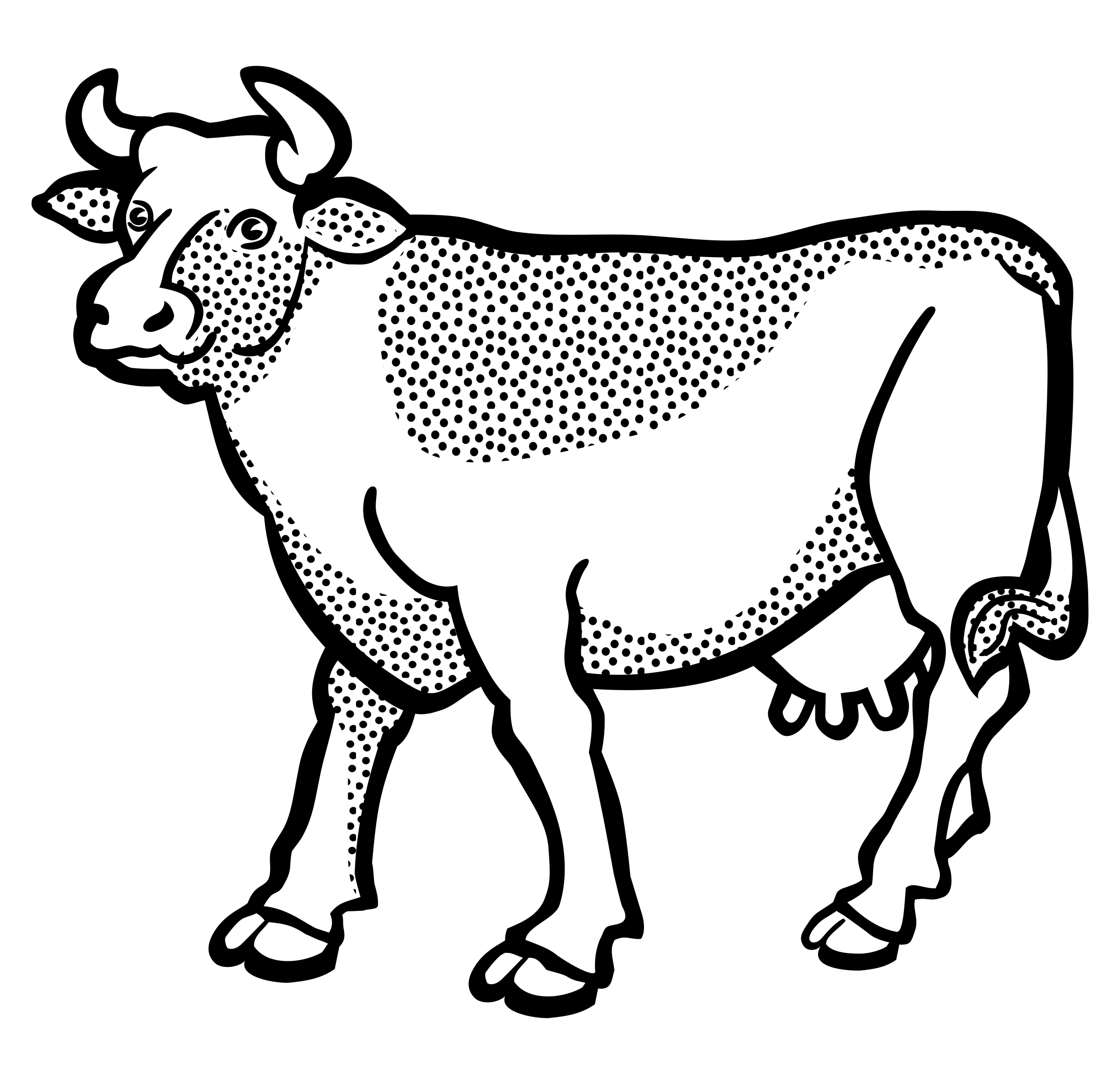 Cow clipart sketch, Cow sketch Transparent FREE for download