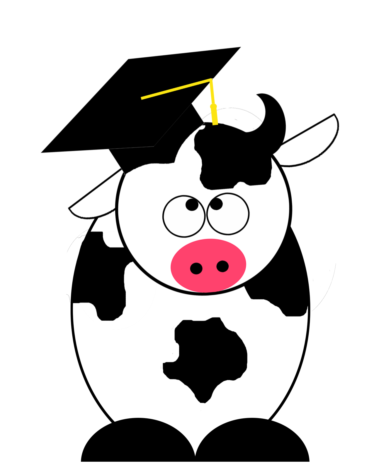 Cows clipart space. Optimizing yield a fable