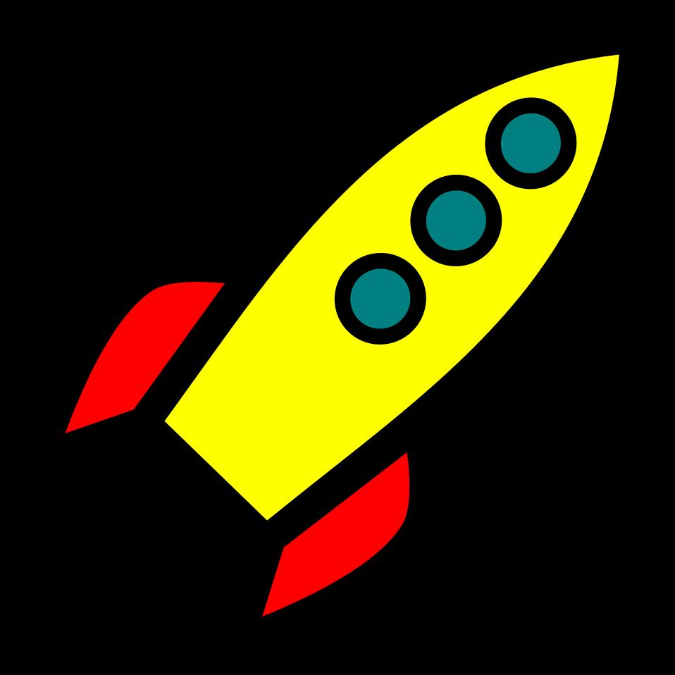 Free stock photo illustration. Clipart rocket zoom