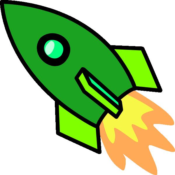 Spaceship clipart retro. Green rocket clip art