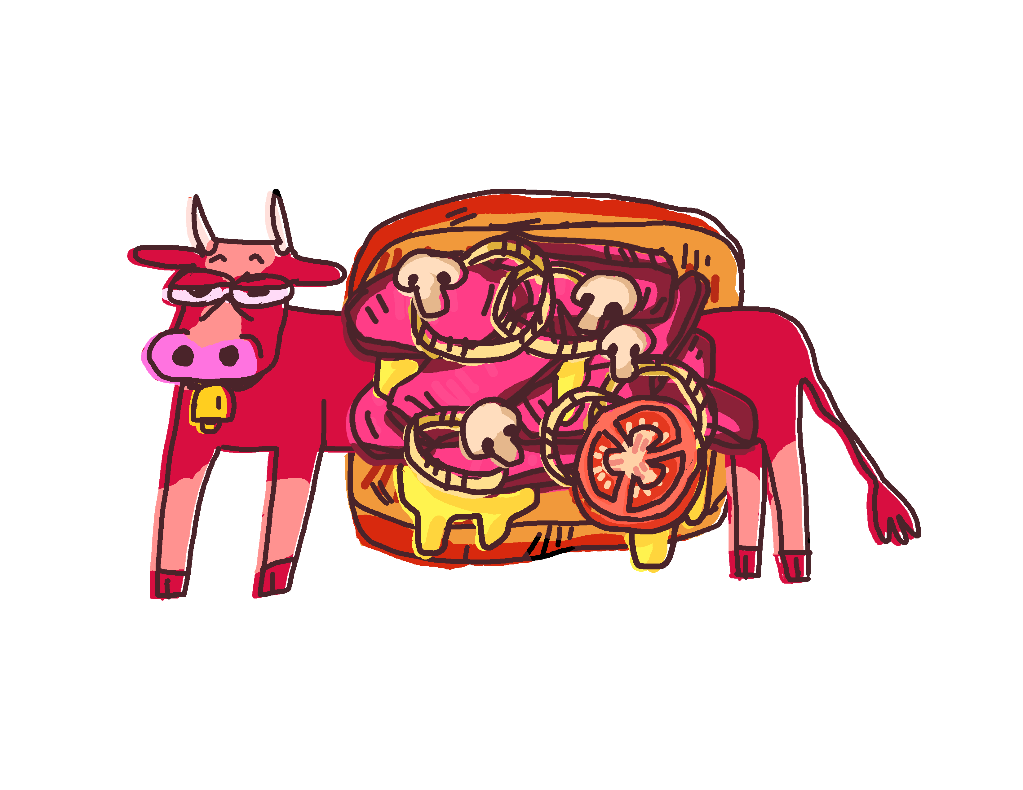 Got beef post barn. Cow clipart stable