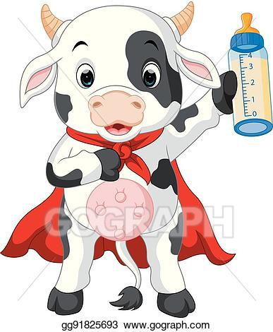 Cows clipart superhero. Vector stock cow cartoon