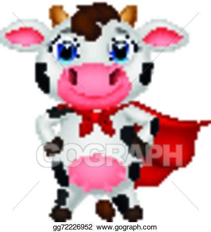 Vector stock cow cartoon. Cows clipart superhero