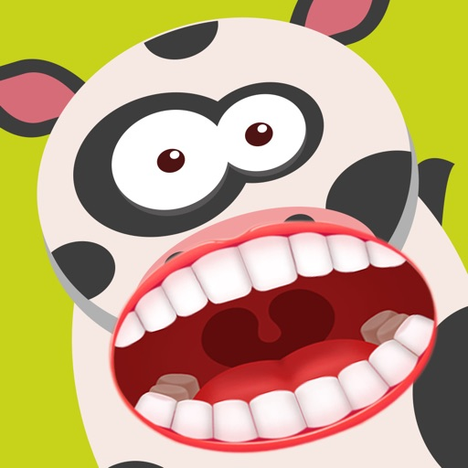 The dentist happy farm. Cow clipart tooth