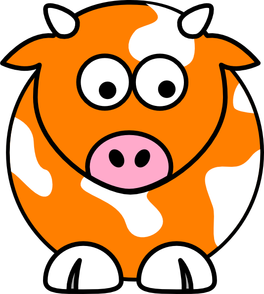 Cow yellow pencil and. Ox clipart blue