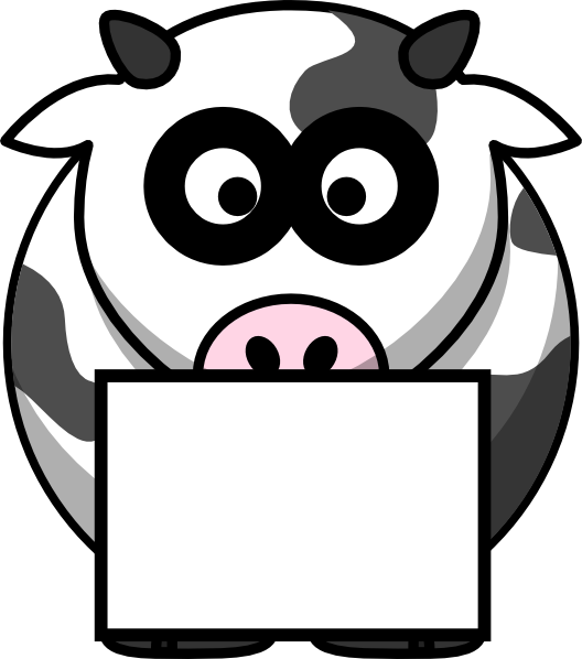 With box clip art. Pioneer clipart cow