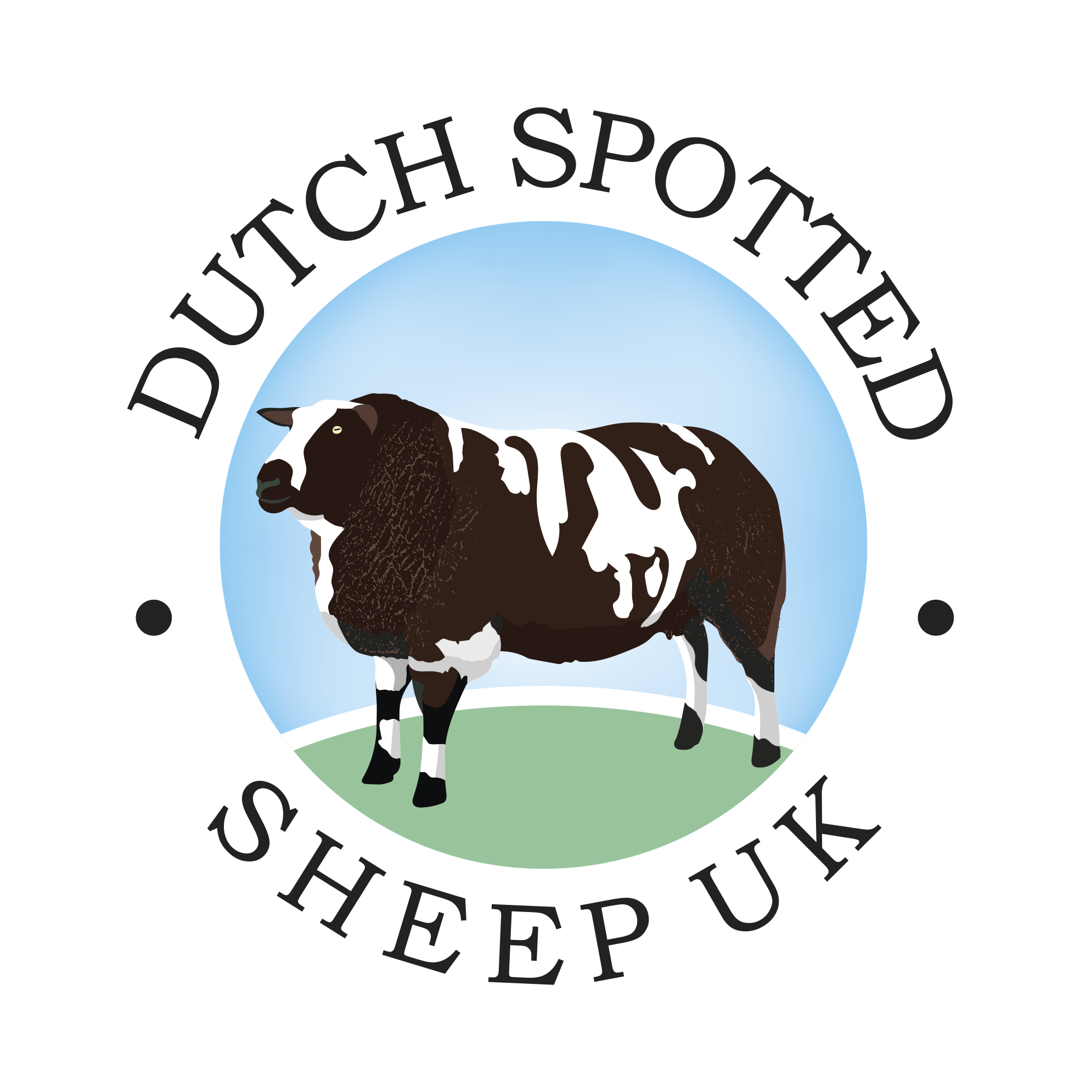 Sheep clipart shee. Dutch spotted uk solway