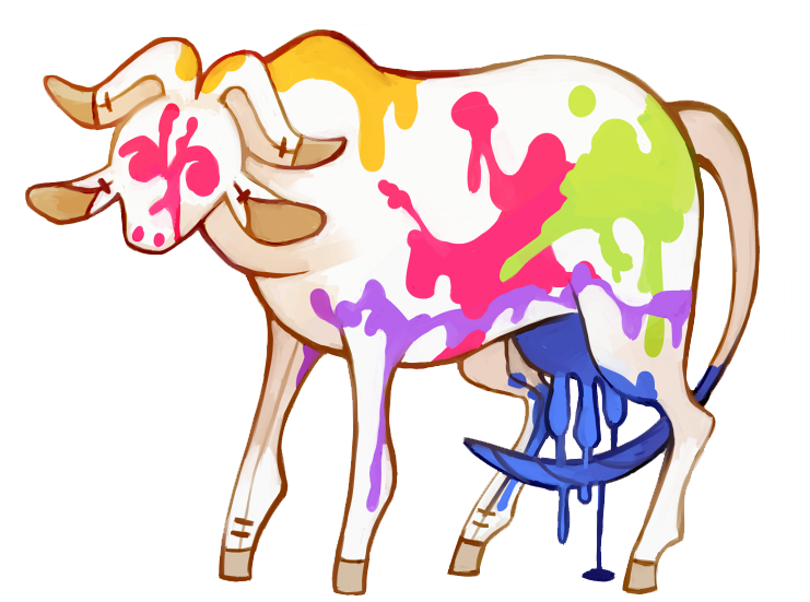 Cow clipart watercolor. Buffalo floraverse the hides