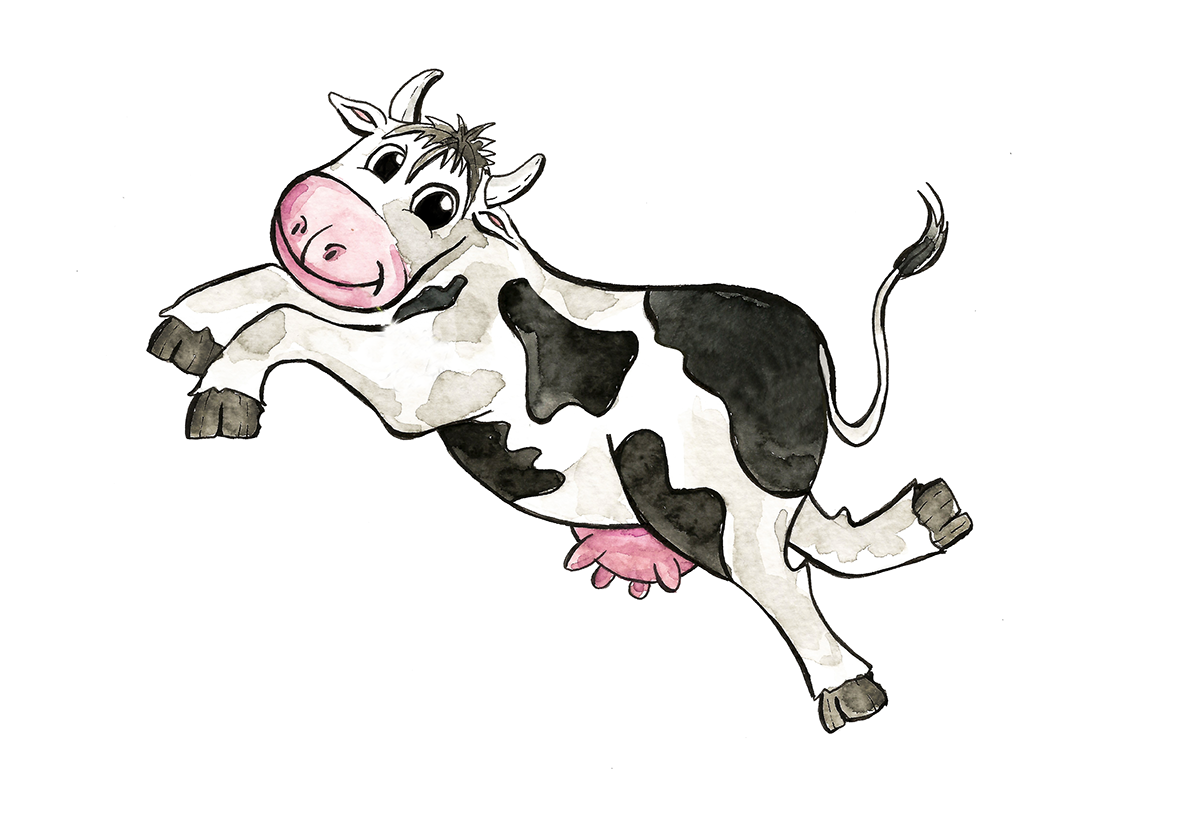 Cow clipart watercolor. Lineart on behance thank
