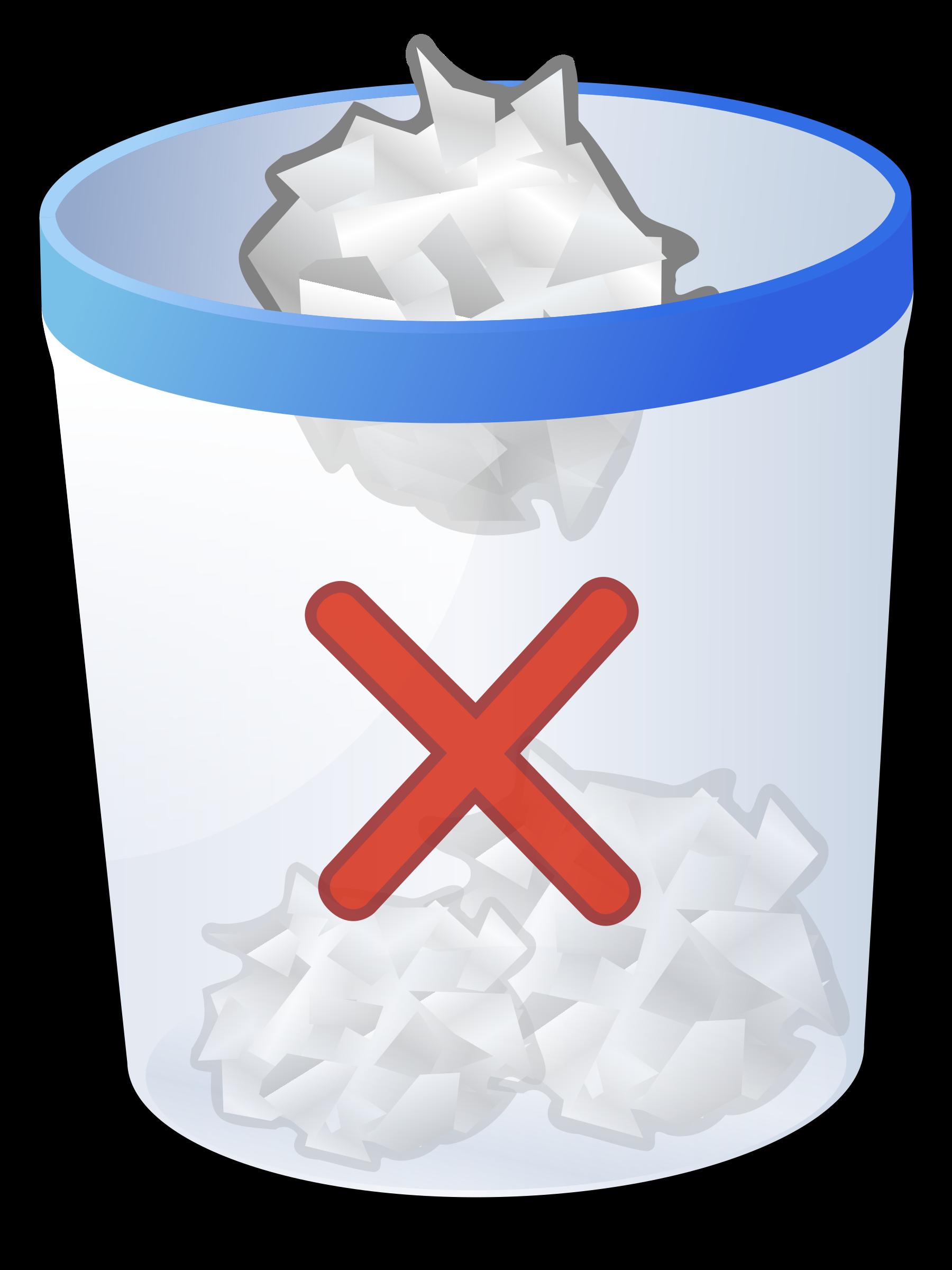 Trash bins big image. Clipart cross animated