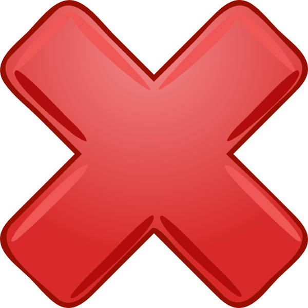 Clipart cross animated. Red x wrong not