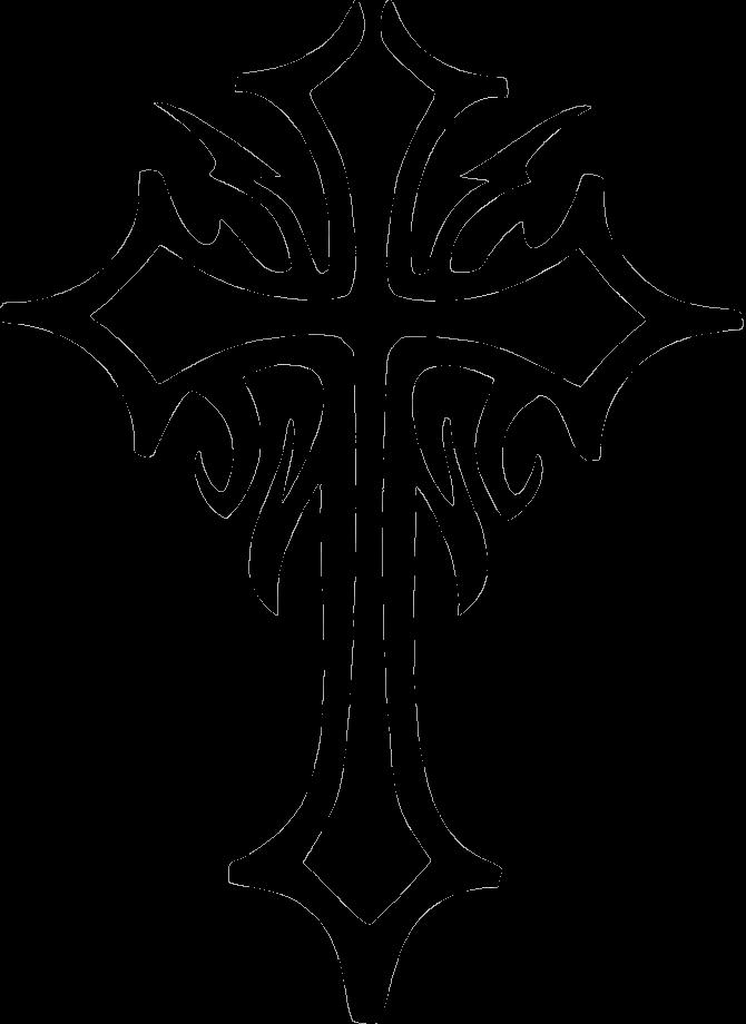 Tribal tattoos tattoo glitter. Lace clipart cross