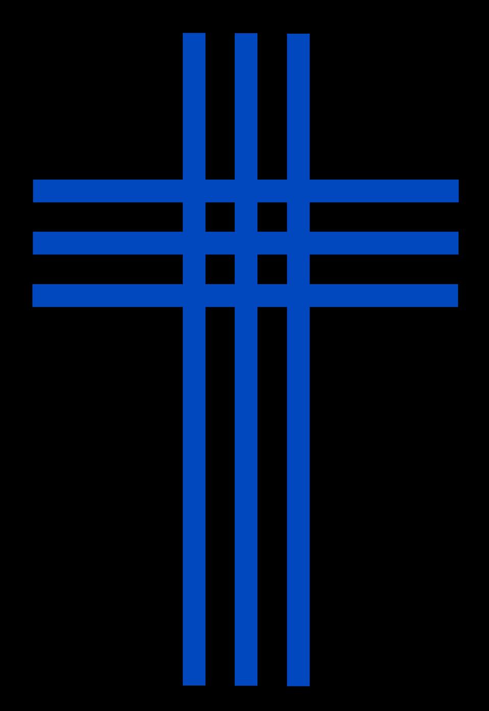 Clipart cross blue. Vintage transparent
