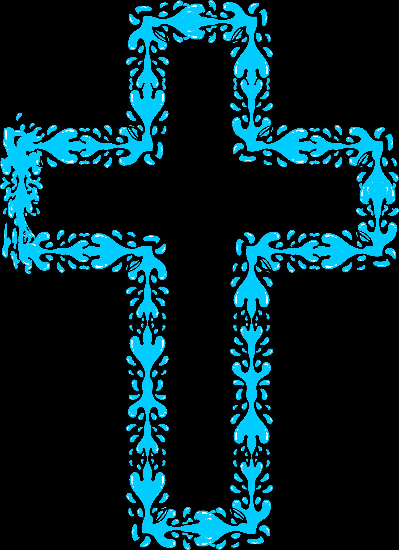 Holy cross big image. Water clipart aqua