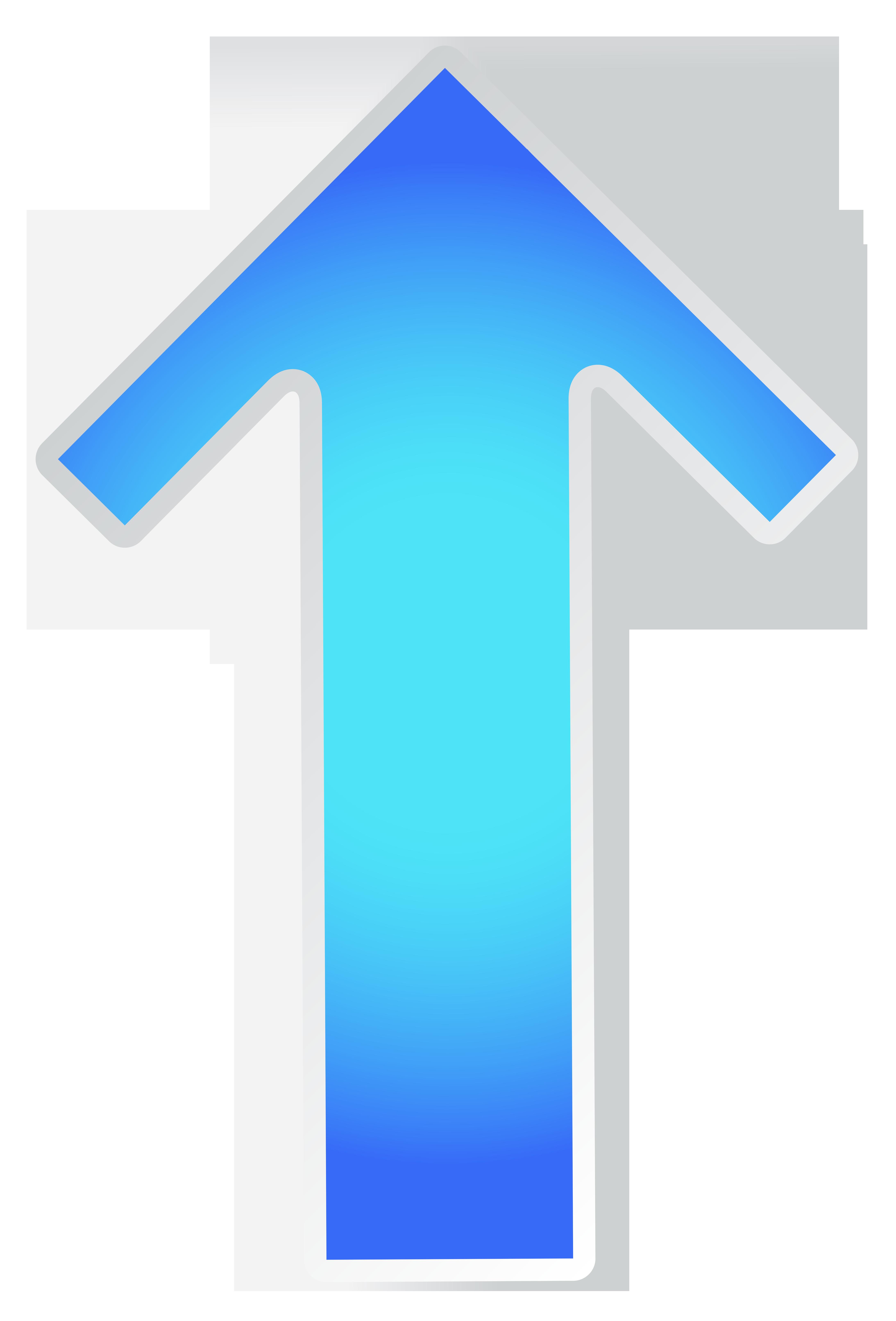 Arrow blue transparent clip. Up clipart png