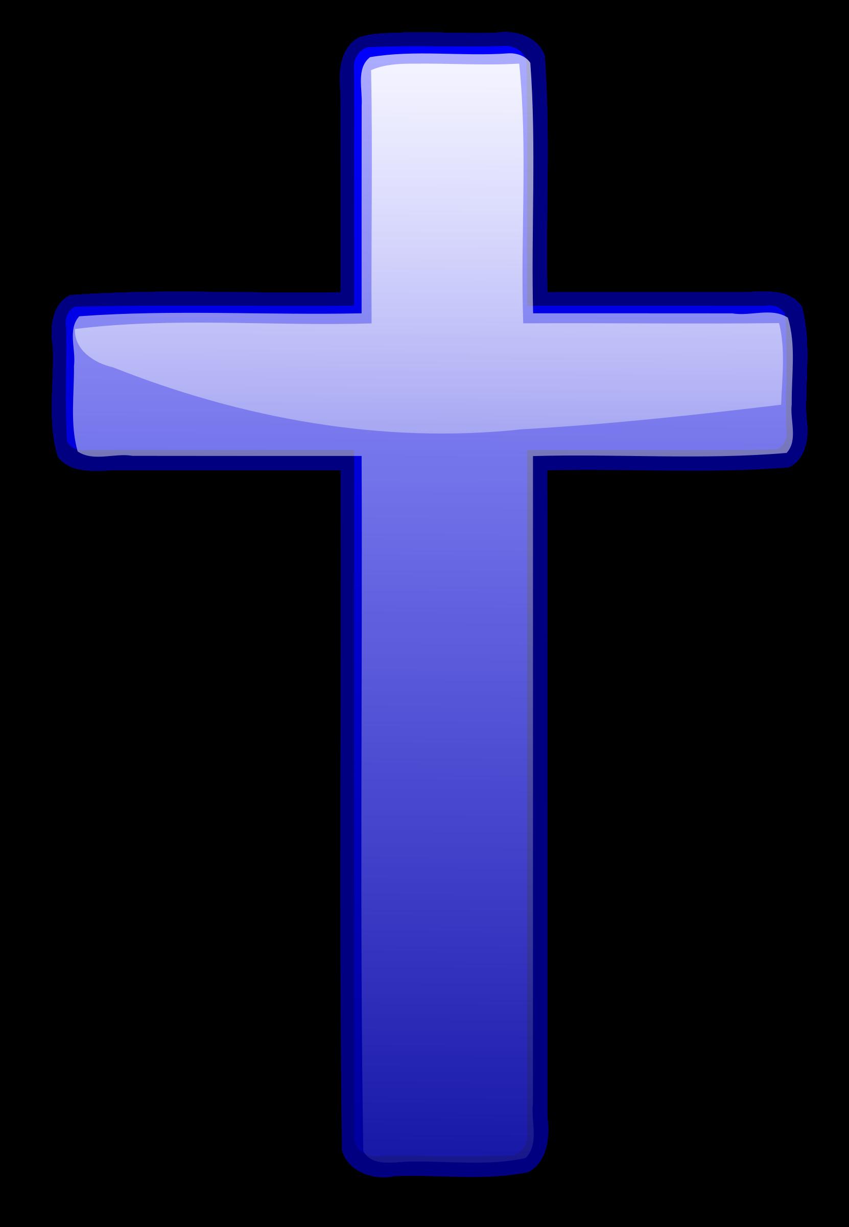 Big image png. Clipart cross blue