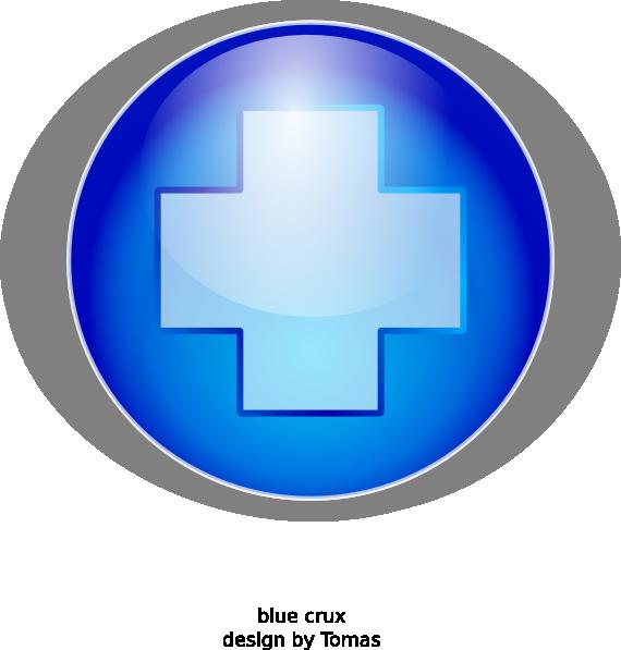 Clip art at clker. Cross clipart blue