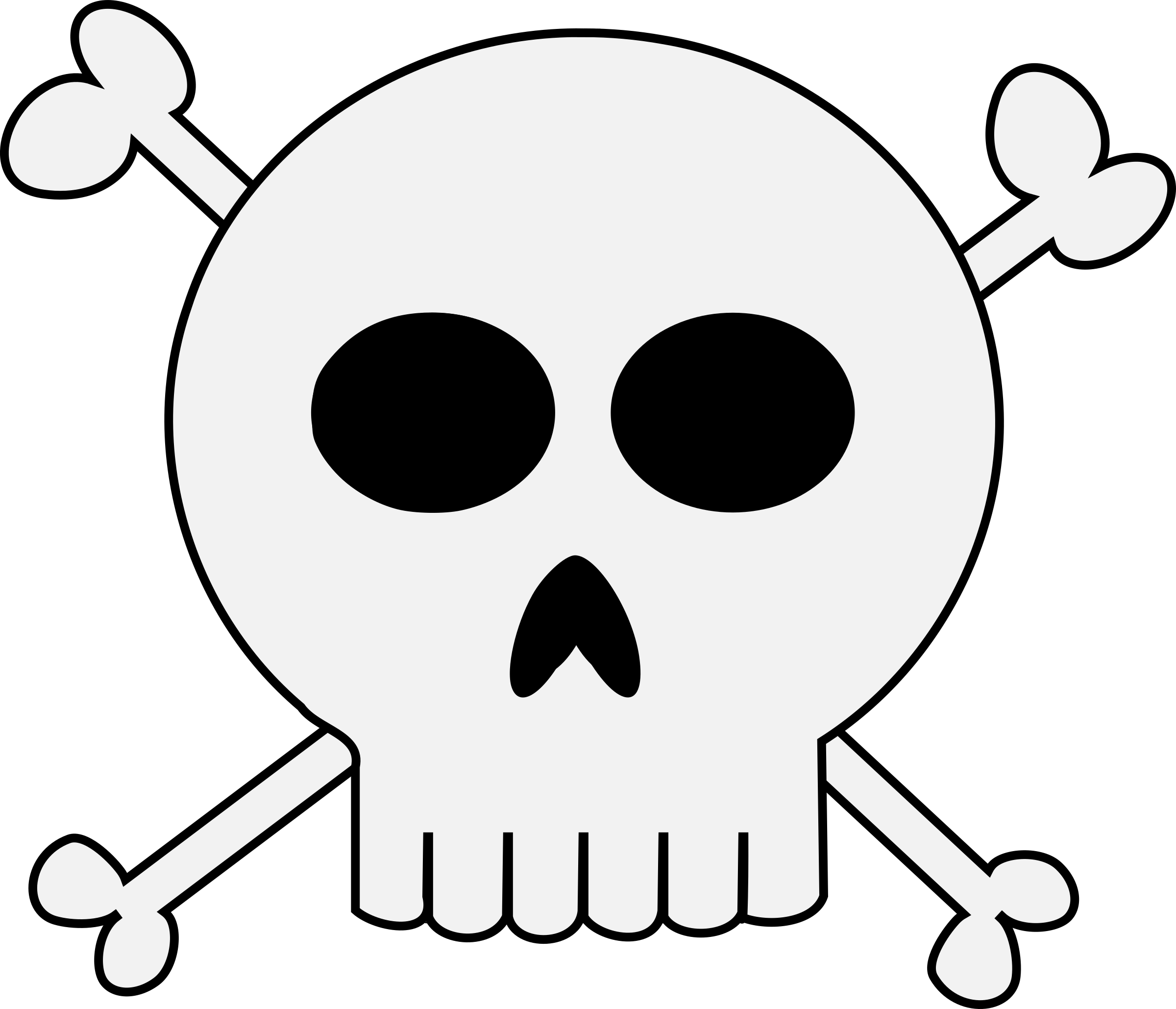 Punk crossbones big image. Clipart skull grunge