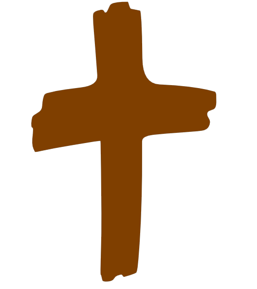 Zoe baptist to minister. Cross clipart brown