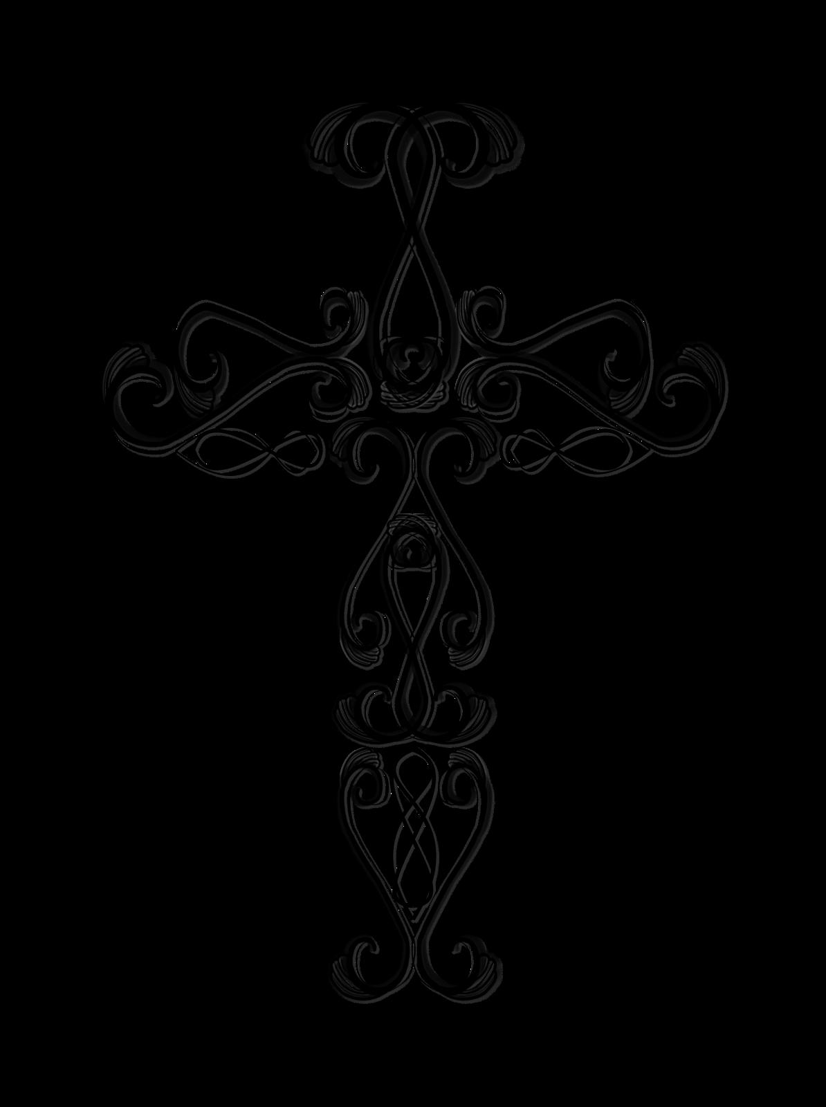 crucifix clipart fancy