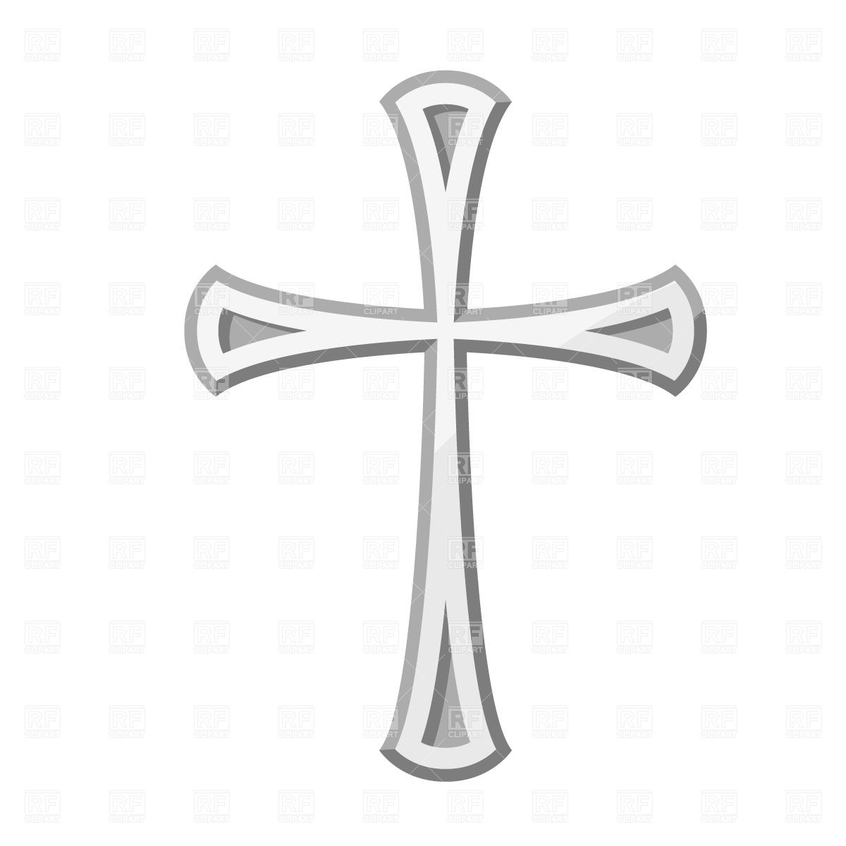 With transparent background emblems. Crucifix clipart small cross