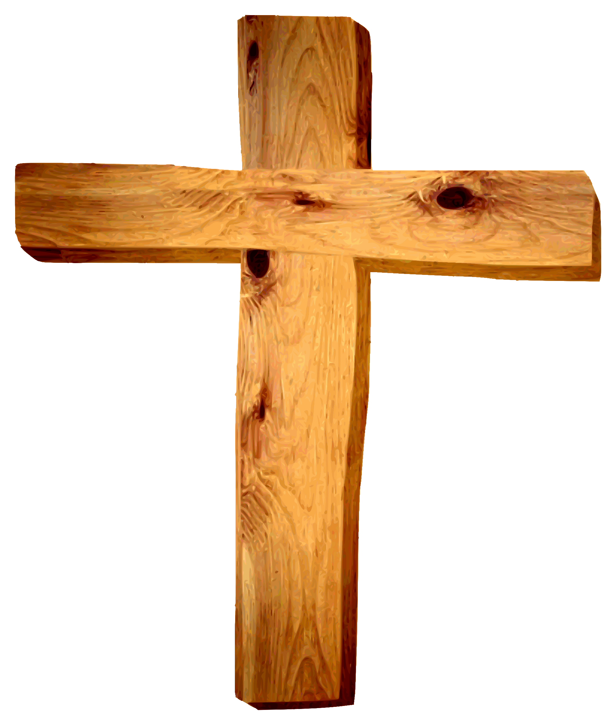 crucifix clipart wooden cross